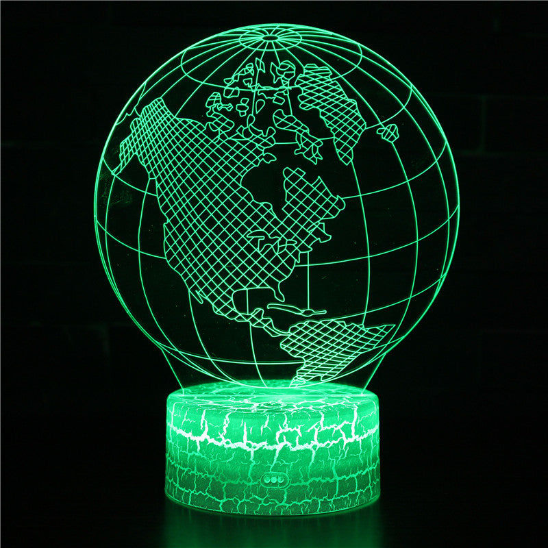 The Earth Planet Land 3D Night Light