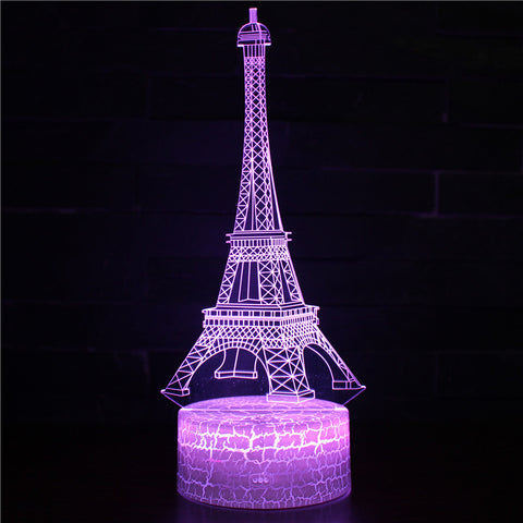 Paris City The Eiffel Tower 3D Night Light
