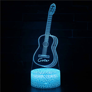 Musical Instrument Guitar 3D Night Light