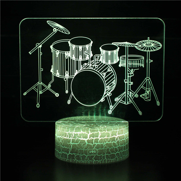 Rock n Roll Drum Set 3D Night Light