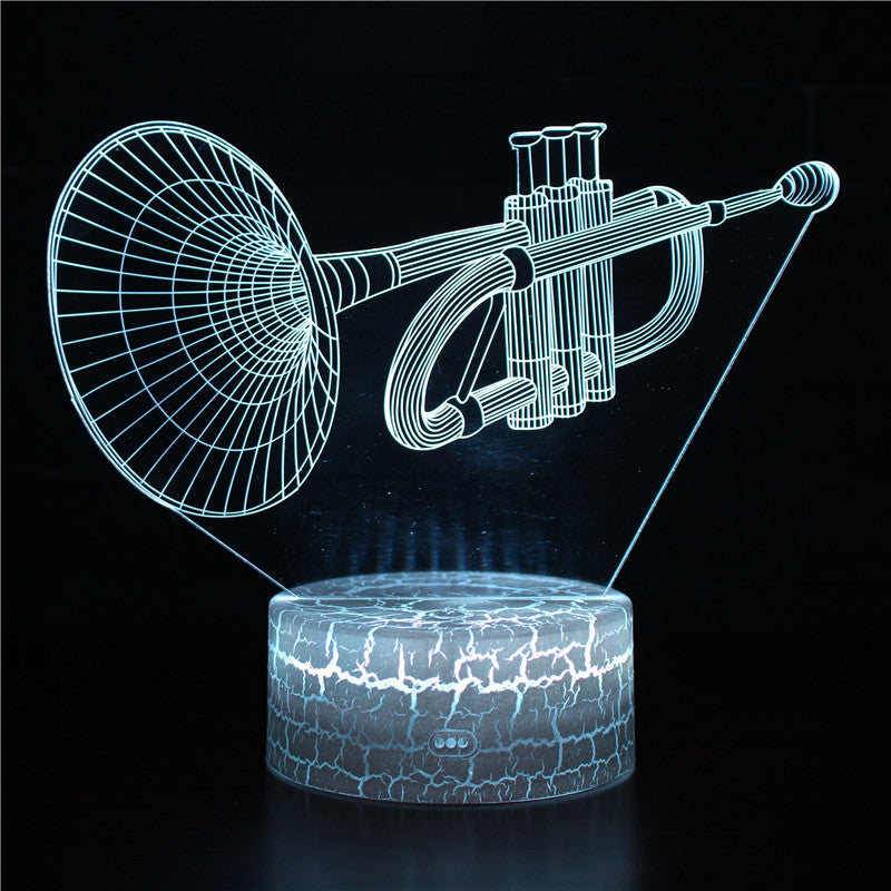 Trumpet Brass Musical 3D Night Light