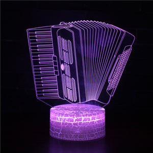 Accordion Model 3D Night Light