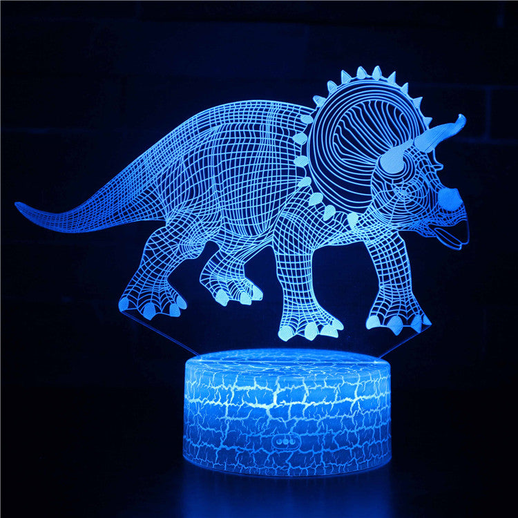 Triceratops Dinosaur 3D Night Light