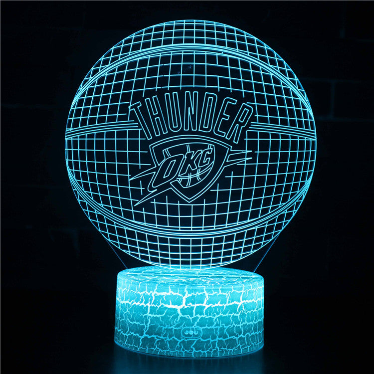Oklahoma City Thunder NBA Basketball Team 3D Night Light