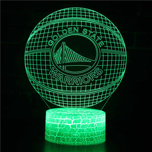 Golden State Warriors NBA Basketball Team 3D Night Light