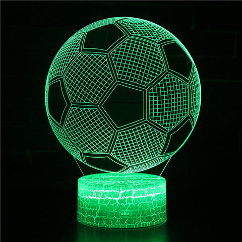 Soccer Football Sport 3D Night Light