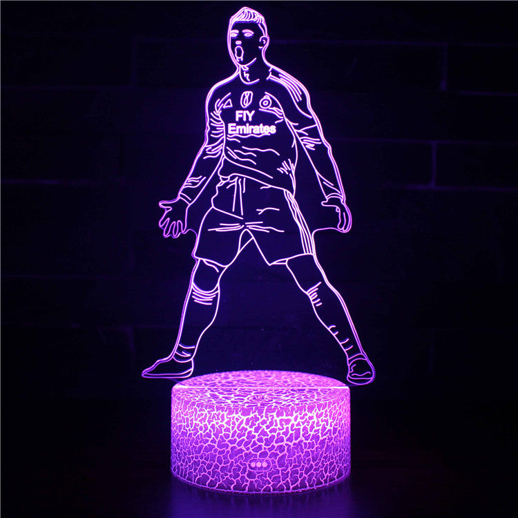 C Cristiano Ronaldo Soccer Player 3D Night Light