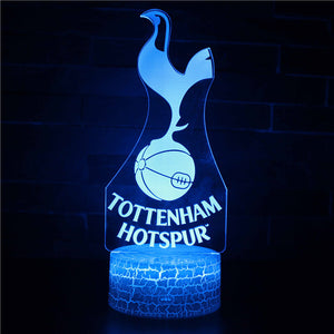 Tottenham Hotspur England Football Club 3D Night Light