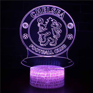 Chelsea Soccer Football Team 3D Night Light