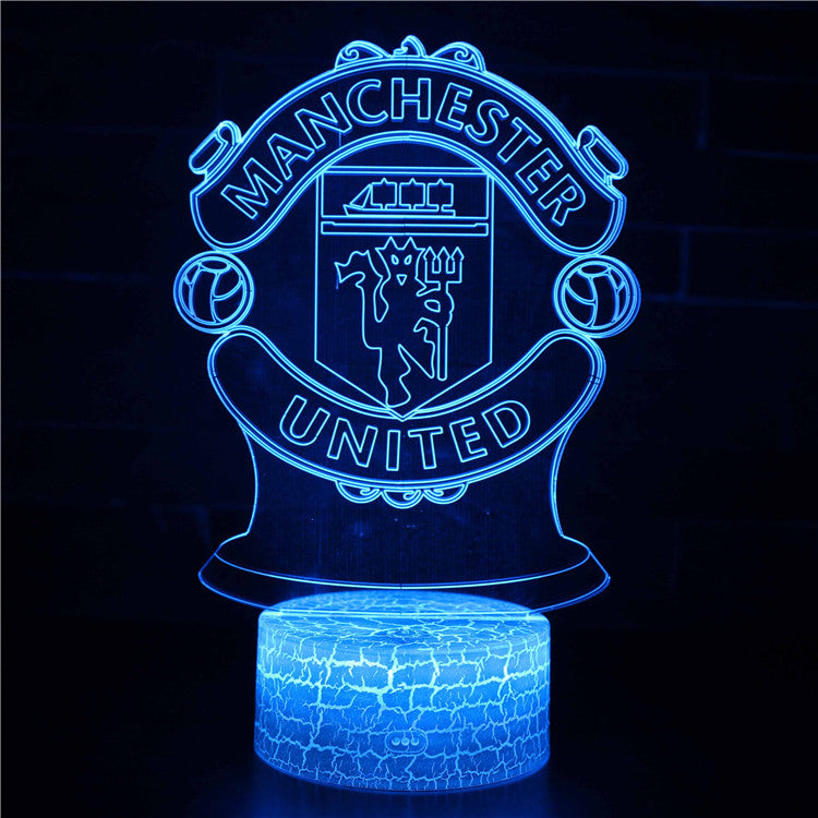 Manchester United Soccer Football Team 3D Night Light