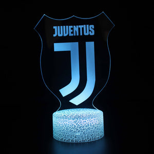 Juventus Soccer Football Team 3D Night Light
