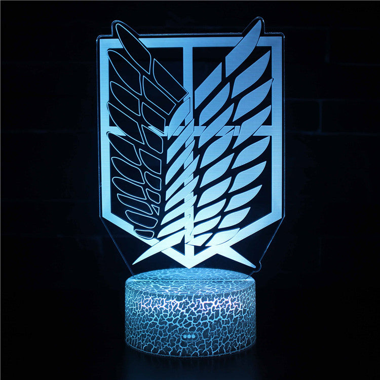 Scouting Legion Attack on Titan Logo 3D Night Light