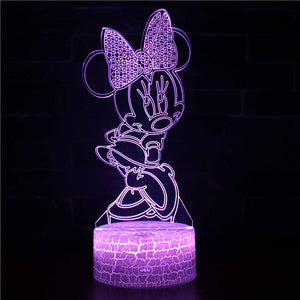 Cartoon Minnie Mouse 3D Night Light