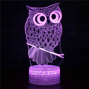 Reallife Sleppy Owl 3D Night Light