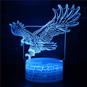 Flying Eagle Hunting 3D Night Light
