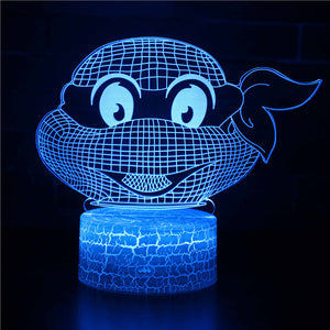 TMNT Ninja Turtle 3D Night Light