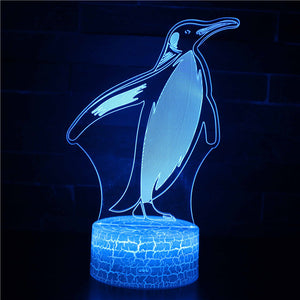 Antarctic Penguin Flightless Birds 3D Night Light