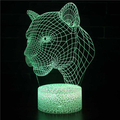 Wild Animal Leopard Cheetah 3D Night Light