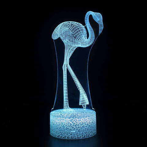 Elegant Flamingo 3D Night Light