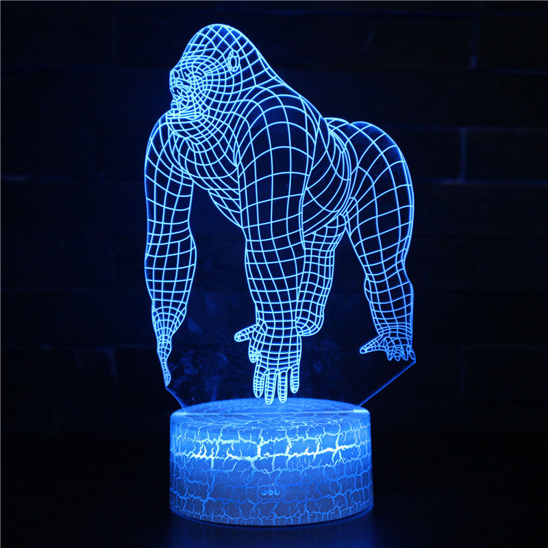 Wildlife Animal Monkey Gorilla 3D Night Light