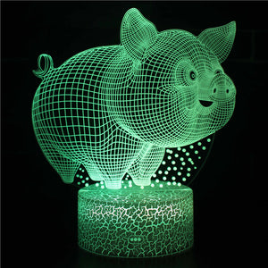 Big Fat Pig 3D Night Light