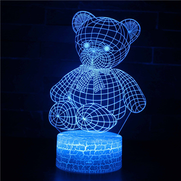 Teddy Bear with Bowtie 3D Night Light