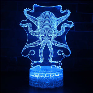 Kraken Octopus 3D Night Light