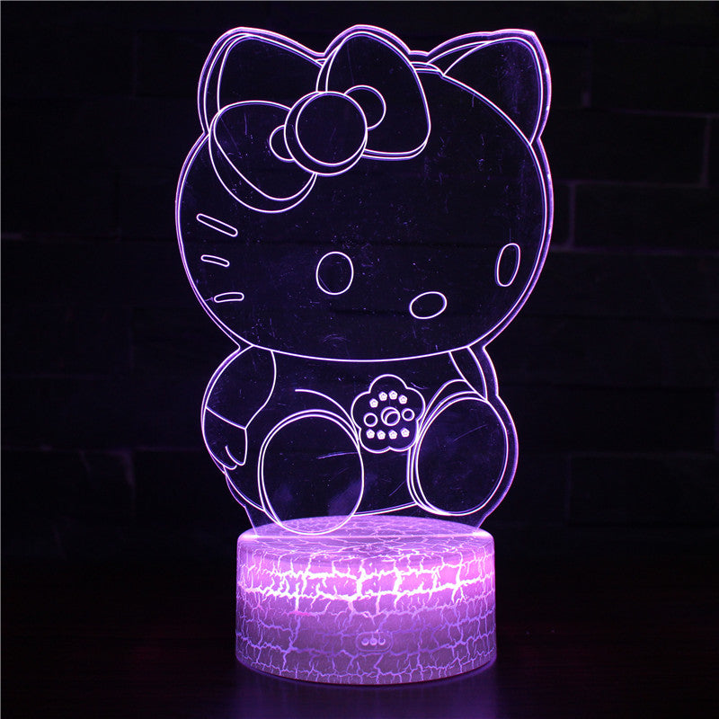 Cute Hello Kitty 3D Night Light