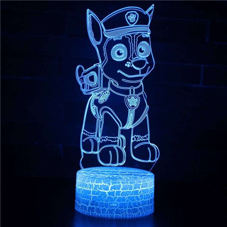 Paw Patrol Chase 3D Night Light