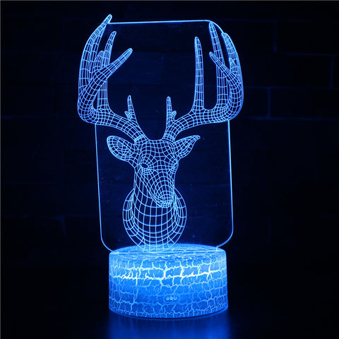 Hunt Season Deer Antlers 3D Night Light
