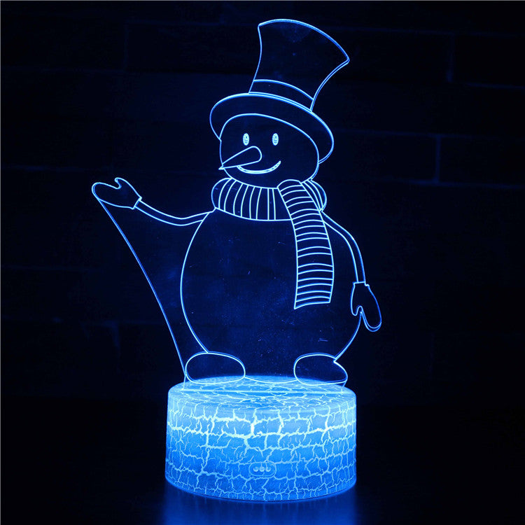Welcome Christmas Snowman 3D Night Light