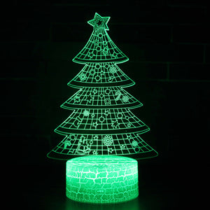 Christmas Tree Ornament Decoration 3D Night Light