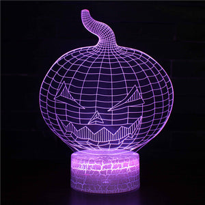 Halloween Pumpkin Face Craft 3D Night Light