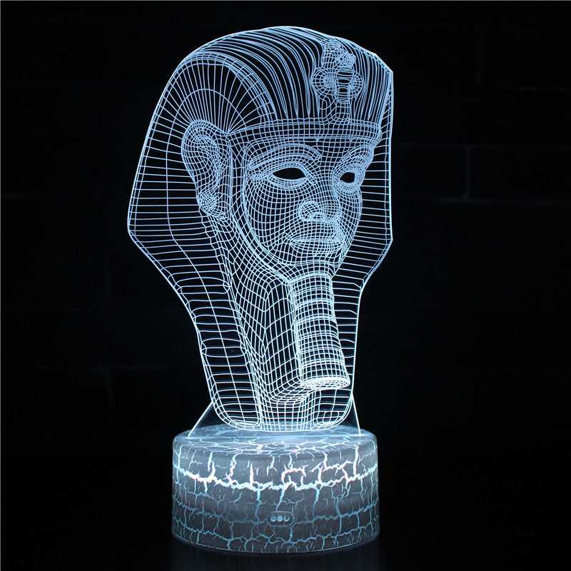 Senior Egyptian Pharaoh Mummy 3D Night Light