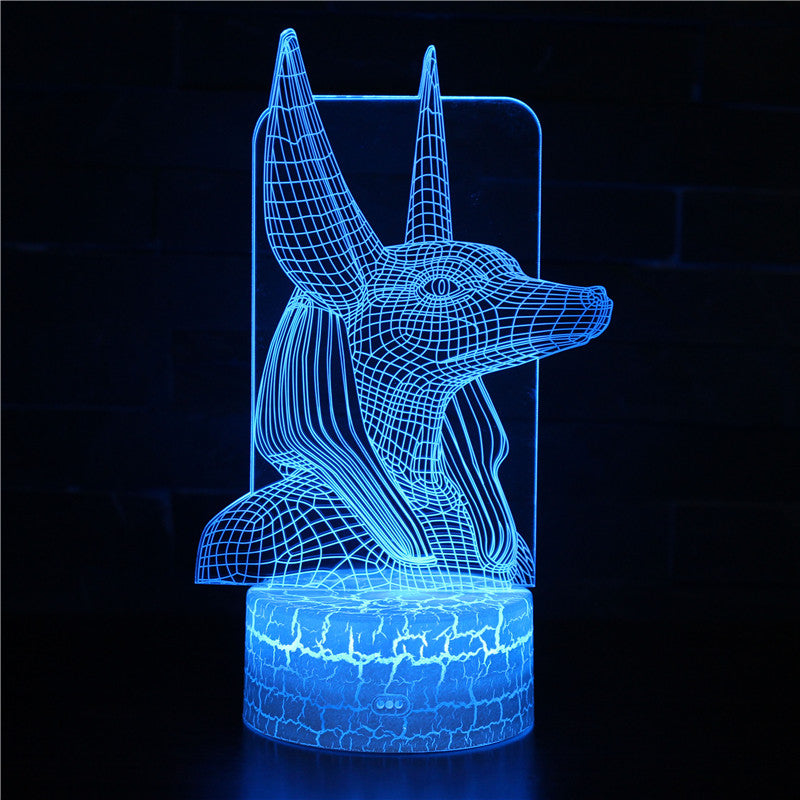 Ancient Egypt Anubis 3D Night Light