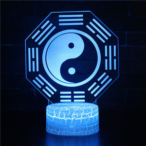 Psychedelic Meditation Yin Yang 3D Night Light