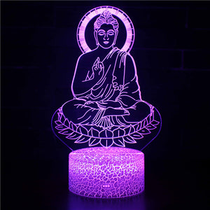 Peaceful Meditation Buddha 3D Night Light