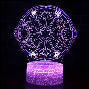 Sun and Moon Symbol Constellation 3D Night Light