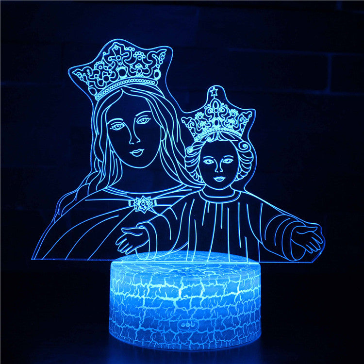Blessed Mother Virgin Mary 3D Night Light