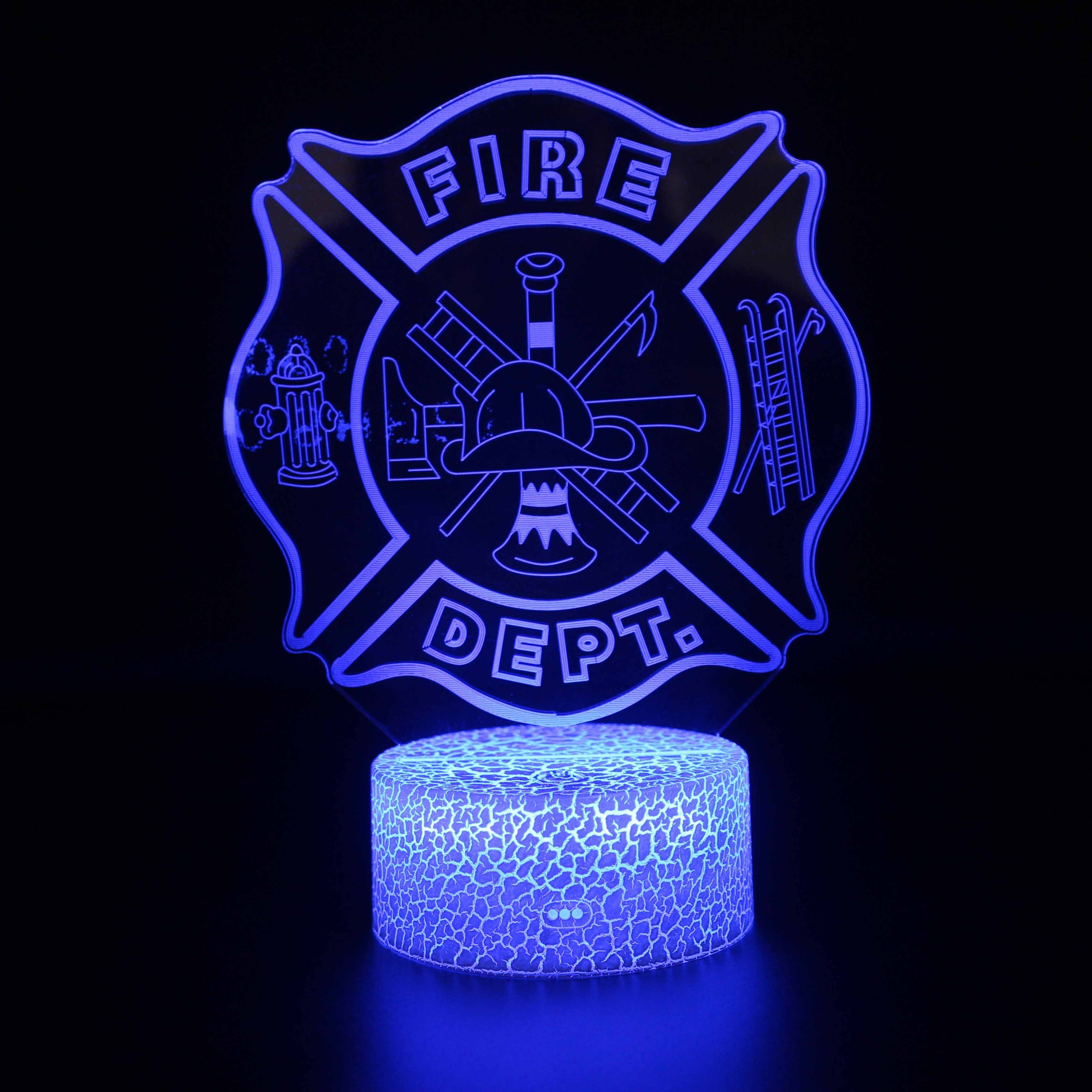 Rescue Symbol Firefighter 3D Night Light
