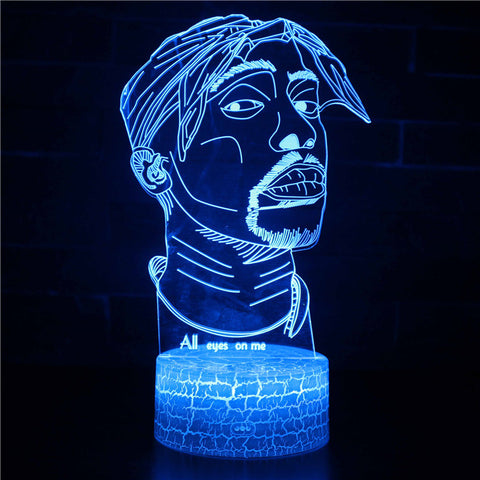 Memory Character 2pac Tupac 3D Night Light