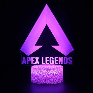 Video Game Apex Legends Logo 3D Night Light