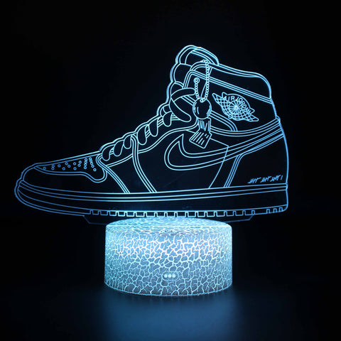 Basketball Shoes Model 3D Night Light