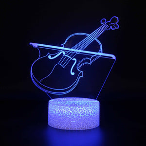 Violin Musical Instrument 3D Night Light