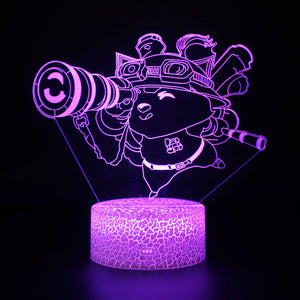 Video Game League of Legends Teemo 3D Night Light