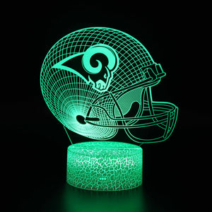 Los Angeles Rams NFL Football Helmet 3D Night Light