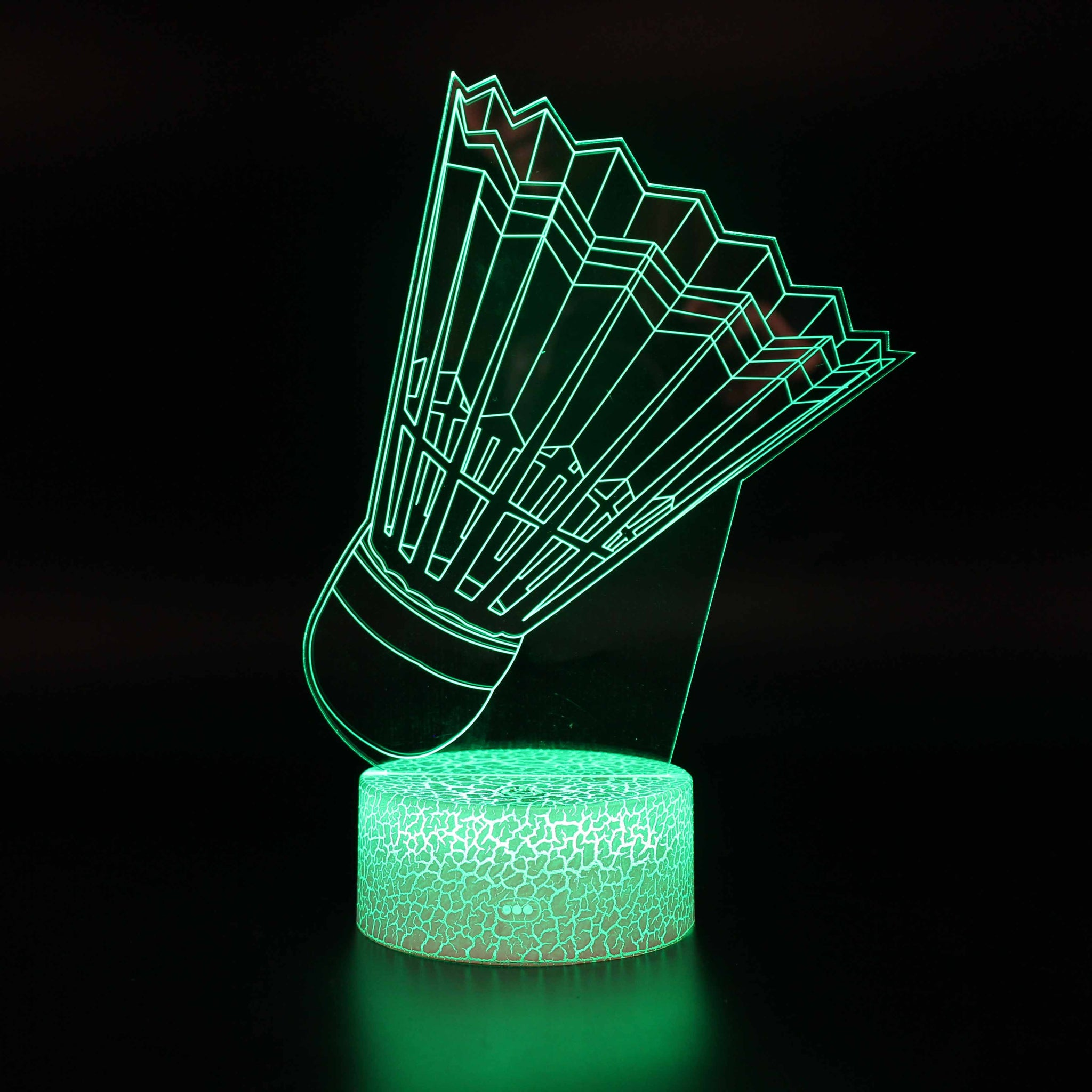 Badminton Sport Model 3D Night Light