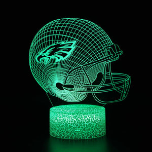Philadelphia Eagles NFL Football Helmet 3D Night Light