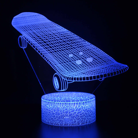 Skateboard Model Kids Sport 3D Night Light