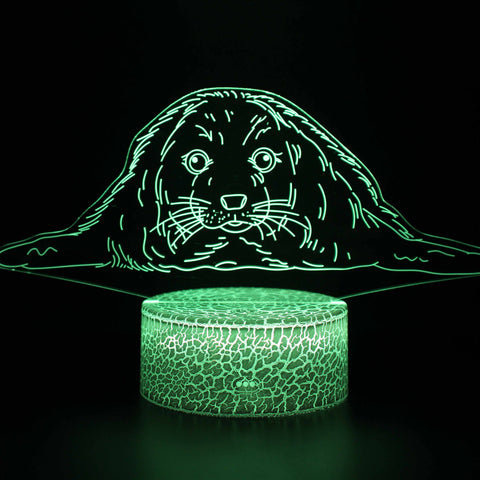Pinniped Harbor Seal 3D Night Light